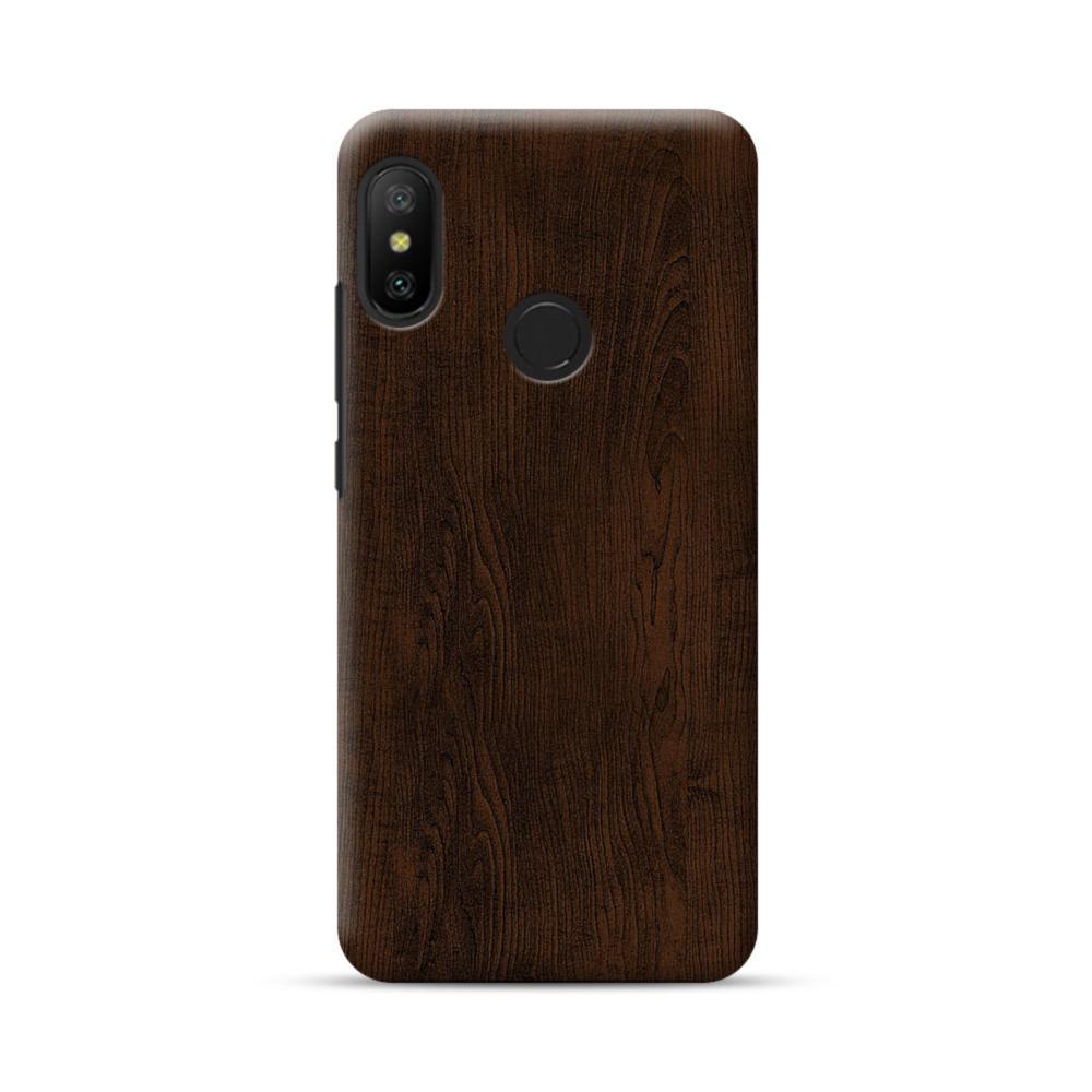 huge discount 9e20d 27a9d Dark Chocolate Wood Xiaomi Mi A2 Lite Case